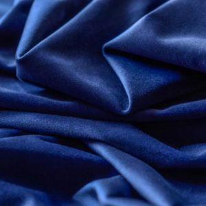Blue velvet curtain fabric