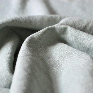 De La Cuona Linen Blue Curtain Fabric